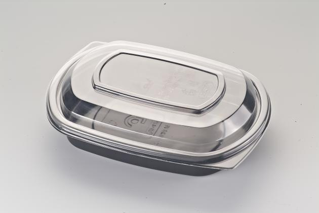 Microwaveable Disposable Plastic Food Container With Lid